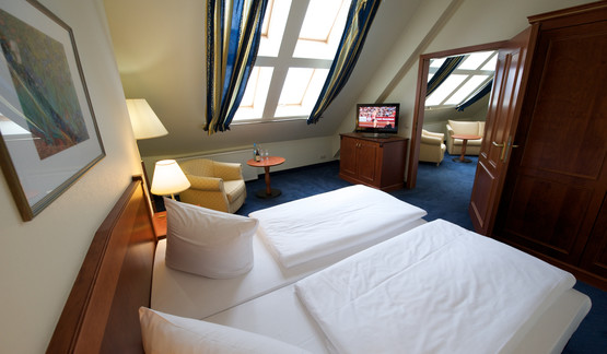 Traditional Double room in Berlin Mitte Hotel roof floor | © Wyndham Garden Berlin Mitte